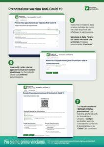 Istruzioni per prenotazione Vaccino Anti-Covid 19 seconda parte