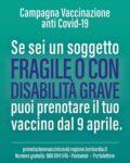 prenotazione dal 9 aprile fragili e con disabilita